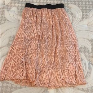 LuLaroe XS lace skirt